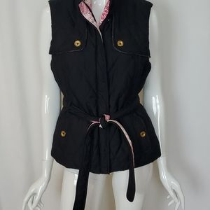 Lilly Pulitzer Belted Quilted Reversible Vest